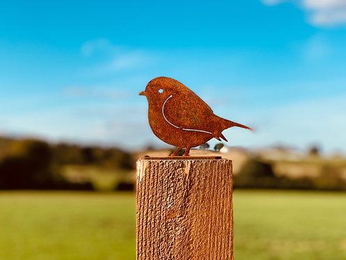 Rusty Metal Bird Fence Topper