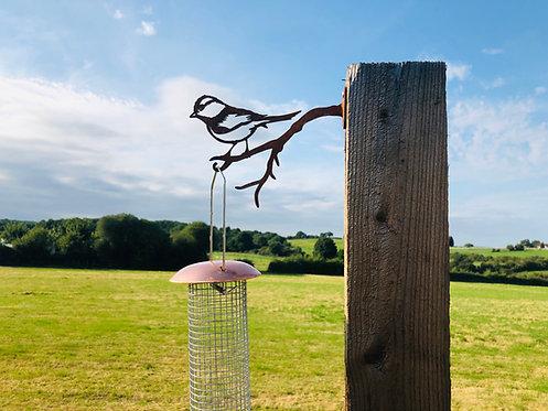 Rusty Metal Blue Tit Bird Feed Hanger