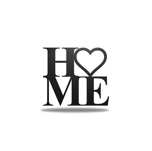 Home Love Heart Metal Wall Art