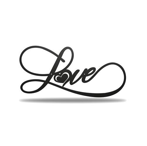 Love Heart Metal Wall Art