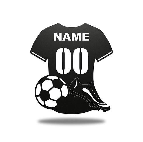 Personalised Football Shirt Metal Wall Art