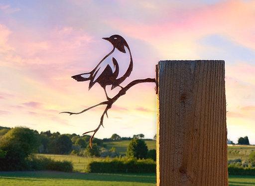 Rusty Bird Sitting on a Branch Side Mount