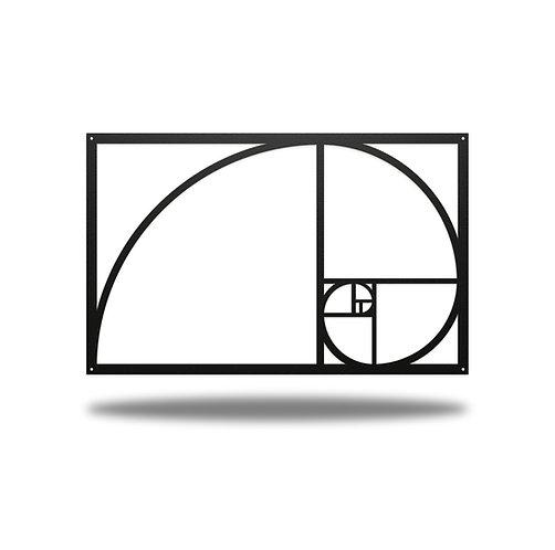 Fibonacci Spiral Metal Wall Art