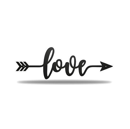Love Arrow Metal Wall Art