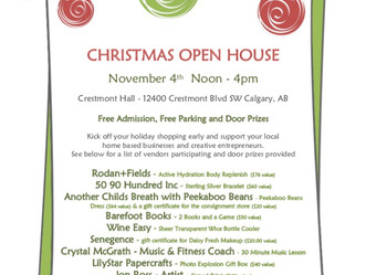 CHRISTMAS OPEN HOUSE!