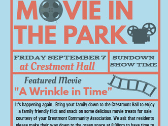 Crestmont HOA 3rd Annual Movie in the Park