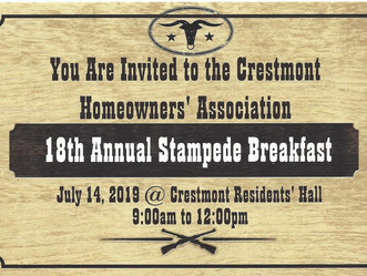 Crestmont Homeowners' Association 18th Annual Stampede Breakfast!