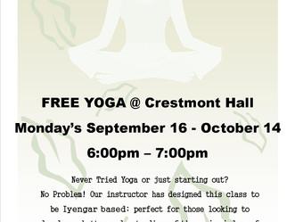 FREE YOGA @ Crestmont Hall!