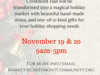 Crestmont Christmas Market - November 19 & 20