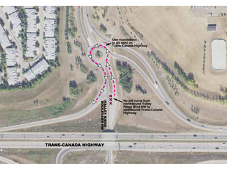 West Calgary Ring Road Construction Notice – Traffic Changes on Valley Ridge Blvd NW September 24, 2