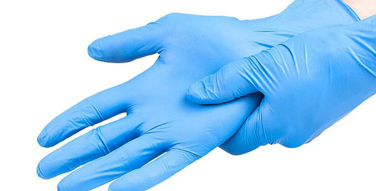 Powder-Free Nitrile Gloves, Box of 100