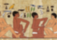 Réflexologie plantaire médecine douce ancestrale. Egypte ancienne.