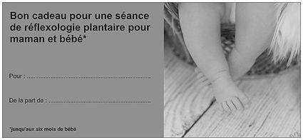 Chèque cadeau de naissance Réflexologie plantaire pour les femmes enceinte au cabinet Ness Harmonie à St Martin du Fouilloux 49