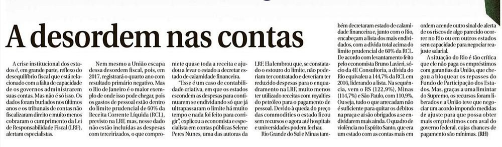 A desordem nas contas - Correio Braziliense - Blog da Selene