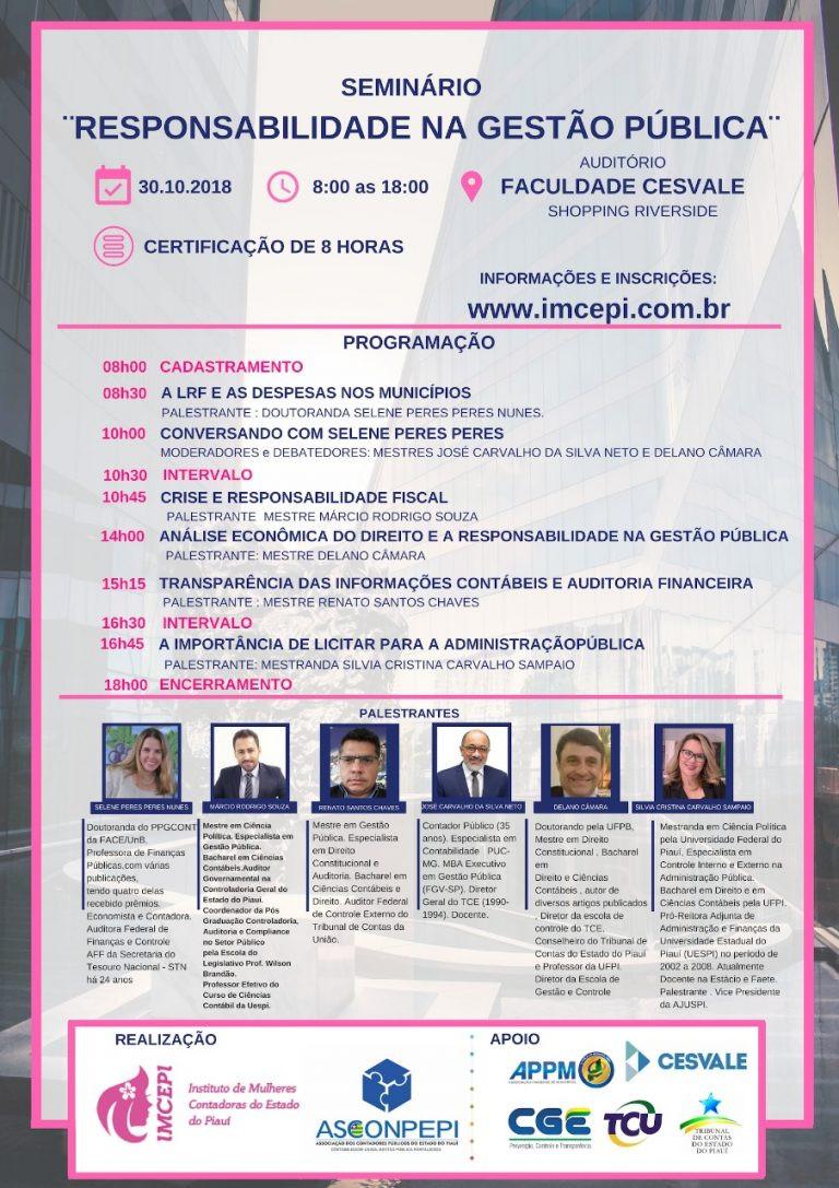 Seminário: Responsabilidade na gestão pública - Blog da Selene