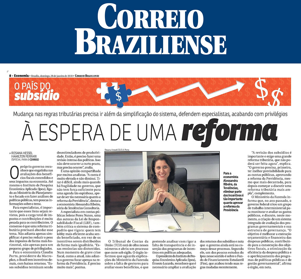 À espera de uma reforma - Correio Braziliense - Blog da Selene