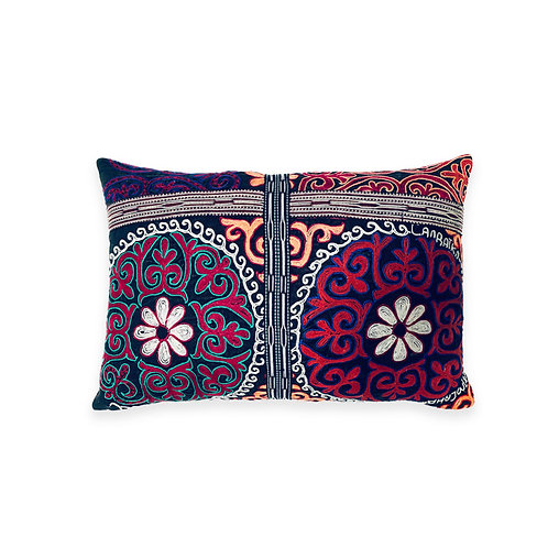Hand Embroidered Accent Cushion, Mongolia