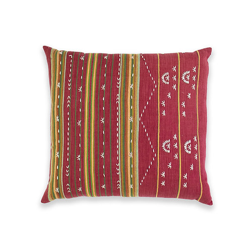 Hand Woven and Beaded Accent Cushion, Burma