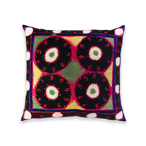 Hand Embroidered Accent Cushion, Uzbekistan
