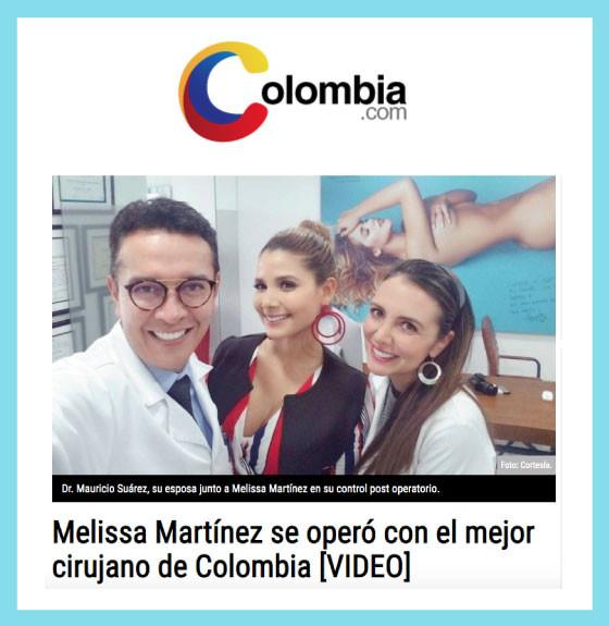Melissa Martínez se operó con el mejor cirujano de Colombia