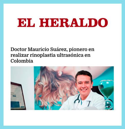 Doctor Mauricio Suárez, pionero en realizar rinoplastia ultrasónica en Colombia