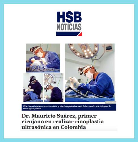 Dr. Mauricio Suárez, primer cirujano en reañizar rinoplastia ultrasónica en Colombia