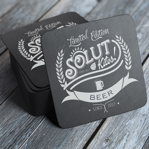Solut Beer Mat Design and Brand