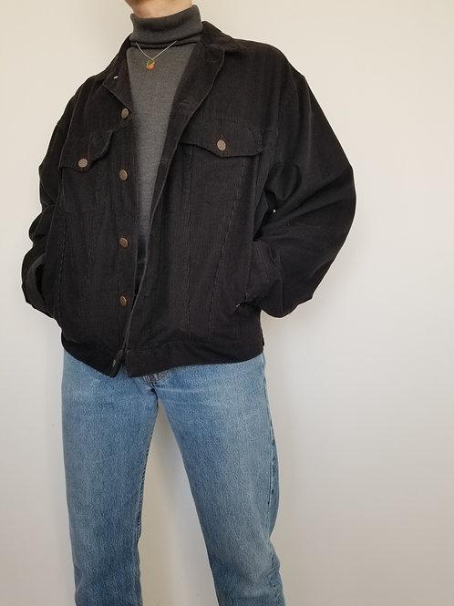 La sublime veste côtelée noire