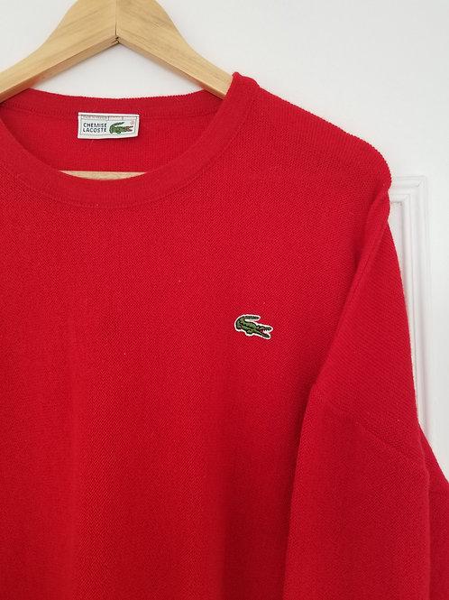 Le beau pull vintage rouge oversize