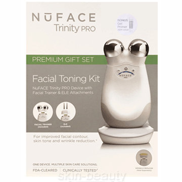 NuFACE Trinity PRO Facial Toning Device Premium Gift Set