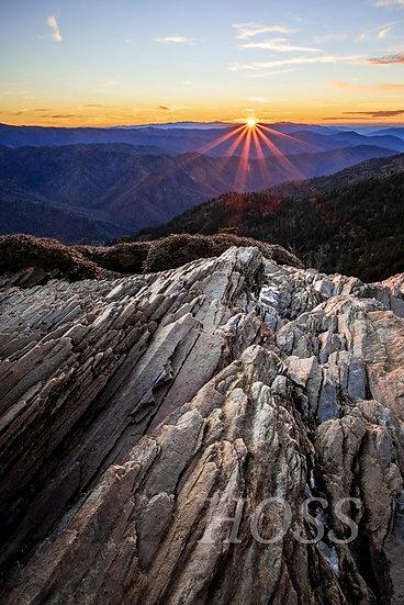 Sunset on Clifftops