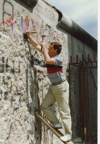 Berlin Wall at Checkpoint Charlie, 1990