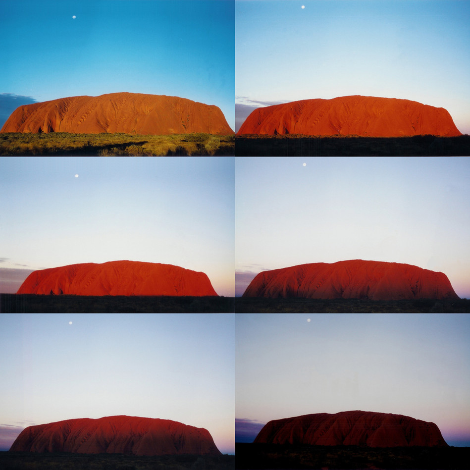 Time lapse of Uluru Sunset, June 1997