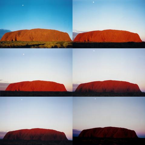 Time lapse of Uluru Sunset, June 1997