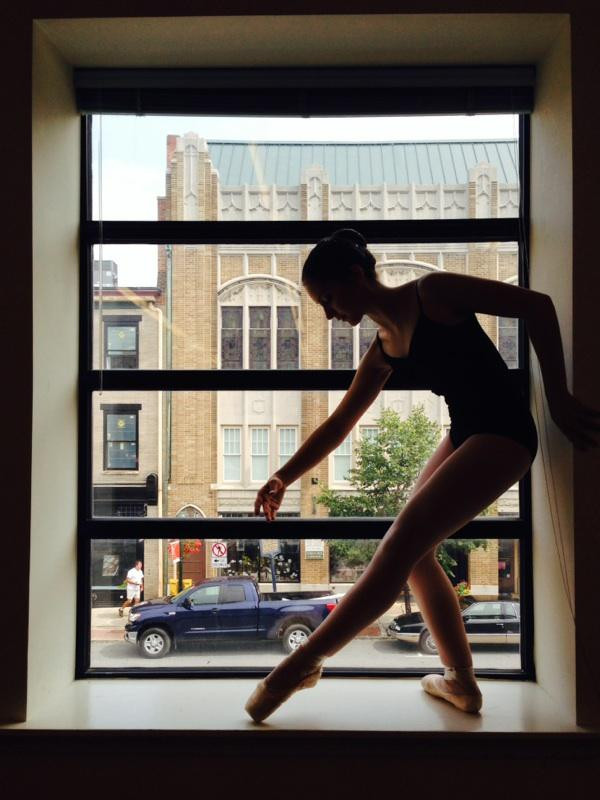 Dana in Ballet Pose, Pittsburgh, July 2014