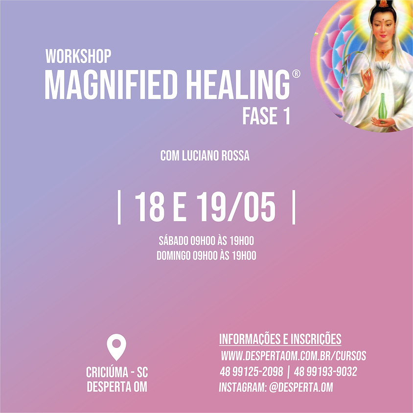 Workshop Magnified Healing® em Criciúma - Fase 1