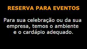 Reserva para eventos