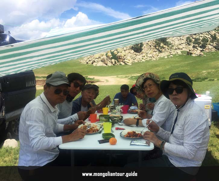 Figure 16 Lunch in Orkhon Valley