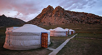 Mongolia travel tourist camp