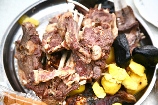 Mongolian food khorkhog