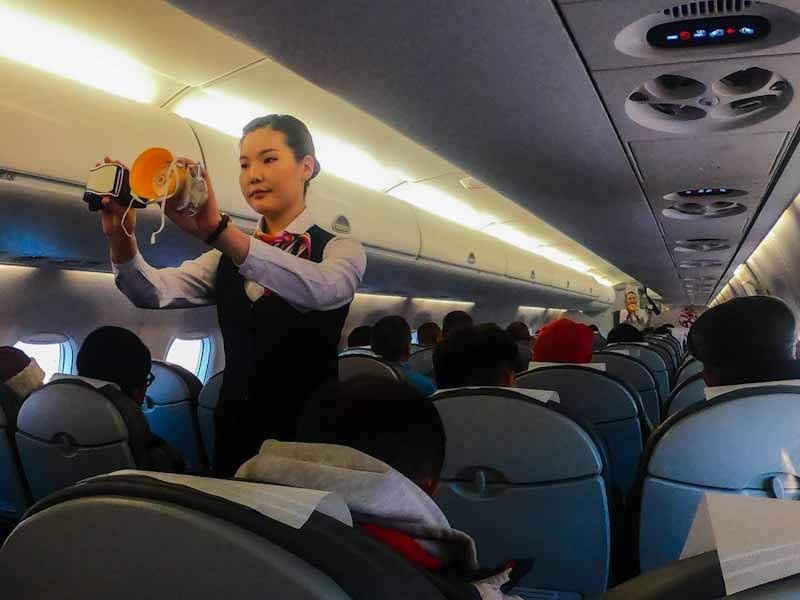 Hunnu air flight to Bayan-Ulgii