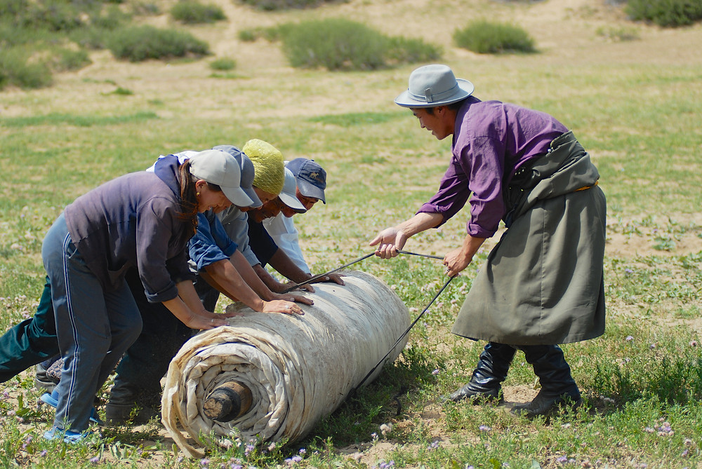 making a wool