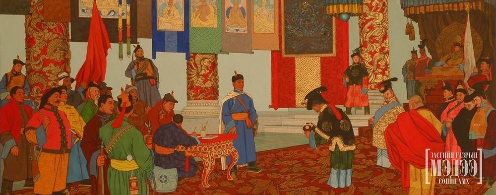 General Sukhbaatar and Bogd King