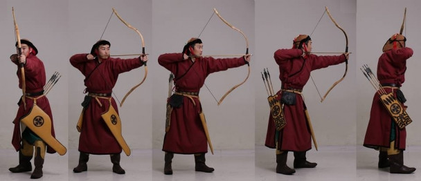 Position of arrow shooting
