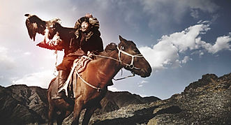 Mongolia travel eagle hunter