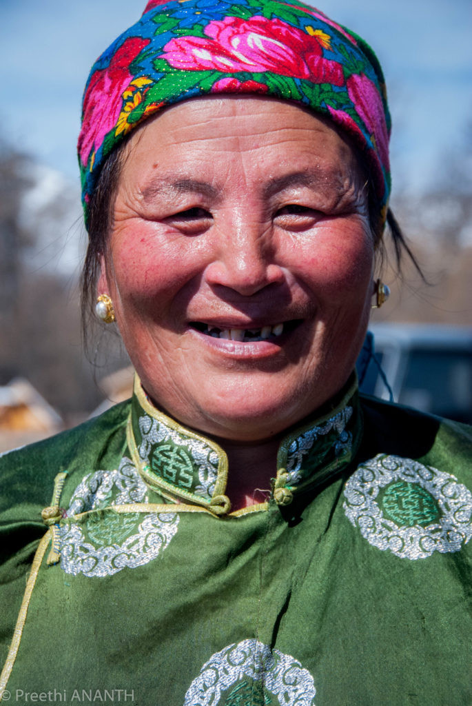 A nomadic family that we were fortunate to have visited. She welcomed us with an open heart to her home and culture. Mrs Baigalia, the charming lady of the Khuvsgul!