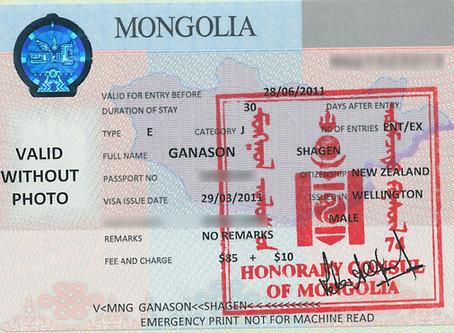 Mongolian travel visa