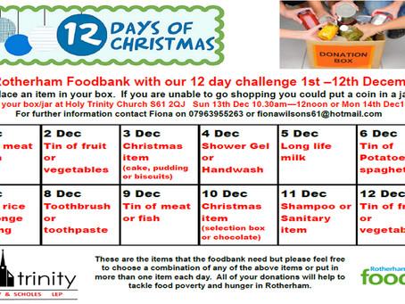 12 Days of Christmas giving
