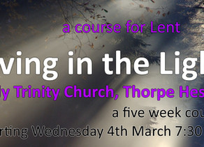 Lent at Holy Trinity Thorpe Hesley