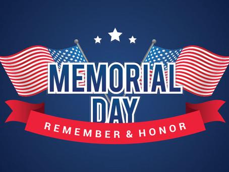 Memorial Day 2021 Observance/Feriado Dia de los Caidos 2021